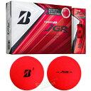 【限定品】BRIDGESTONE GOLF ブリヂストンゴルフ日本正規品 TOUR B JGR MATTE RED EDITION ゴルフボール 2019新製品 1ダース(12個入) 【あす楽対応】