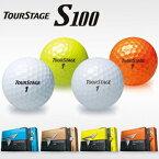 ブリヂストン日本正規品ツアーステージ S100ゴルフボール1ダース(12個入)【あす楽対応_四国】