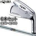【特注】 HONMA GOLF 本間ゴルフ日本正規品 TOUR WORLD(ツアーワールド) TW737 Vs キャビティアイアン ダイナミックゴールドスチールシャフト 6本セット(I#5〜I#10)【あす楽対応】