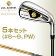 2016モデルテーラーメイド日本正規品GLOIRE G(グローレ ジー)アイアンGL5000カーボンシャフト5本セット(#6〜9、PW)【あす楽対応】
