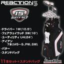 2015モデルツアーエッジ日本正規品REACTION3フルセットクラブ11本(1W、3W、U4、I#5〜PW、SW、パター)+スタンドバッグ「リアクション3」【...