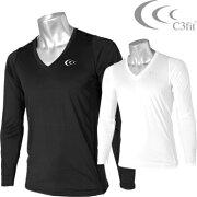 C3fit(シースリーフィット) ゴルフウエア クーリング Vネック 長袖シャツ 3F08111 【あす楽対応】