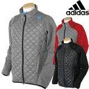 Adidas Golfアディダスゴルフ日本正規品CLIMAHEAT キルトL/S フルジップジャケット保温BR106「秋冬ゴルフウエアw6」【あす楽対応】