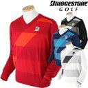 BridgestoneGolfブリヂストンゴルフ長袖VネックセーターAGM31B「秋冬ゴルフウエアw6」【あす楽対応】