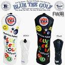 ブルーティーゴルフスマイル&ピンボールカリフォルニア ヘッドカバーフェアエイウッド用「BLUE TEE GOLF SMILE&PINBALL Californi...