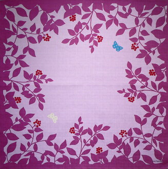 Furoshiki echino ( エチノ ) 綿中 furoshiki flower garden ( flower ) purple (75 cm) made in Japan 10P04Aug13
