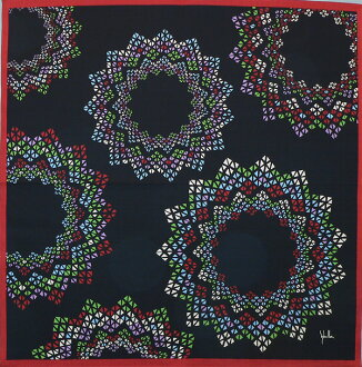 Furoshiki ROSETON (ロセトン) black (fs3gm made in 》 Japan which there is no 75cm )《 box in) out of the furoshiki シビラ cotton