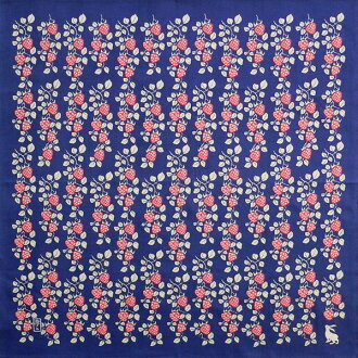 Furoshiki yumeji Strawberry (dark blue) cotton Yuzen Furoshiki (70 cm) made in Japan 10P04Aug13