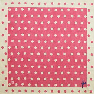 Yuzen furoshiki Takehisa yumeji polka dots (Pink) cotton Furoshiki (70 cm) made in Japan 10P04Aug13