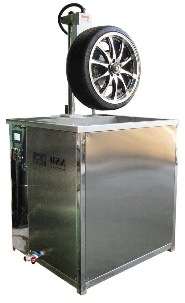 超音波ホイール洗浄機。超音波、植物性洗浄液、熱・バブルの力で、車のホイールをスピーディに強力洗浄します。ASD-1048S