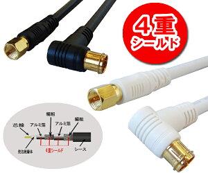【プラグ式-ねじ式】地上デジタル対応75Ω同軸S5CFBアンテナケーブル1.5m