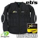 eb's 【20/21・BODY PAD XRD:BLACK】エビス プロテクター ポロン エックスアールディー 衝撃に反応して硬化する軽量最先端衝撃吸収素材を採用した高機能モデル スキー スノーボード プロテクション