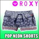 ROXY[ロキシー] 水着【POP NEON BOARDSHORT】ショート丈のボードショーツ!!130cm、140cm、1
