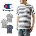 Champion チャンピオン ベーシック ボーダー ポケット Tシャツ ( メンズ ポケTee 半袖 トップス C3-H361 )