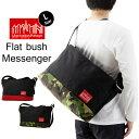 Manhattan Portage マンハッタンポーテージ Flat Bush Messenger Bag フラット ブッシュ メッセンジャー バッグ Lサイズ ( メッセンジャーバッグ ショルダー バッグ メンズ レディース MP1632V )