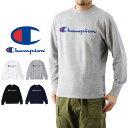Champion チャンピオン ロゴプリント クルーネック スウェット シャツ ( メンズ トレーナー 長袖 トップス BASIC ベーシック C3-H004 )