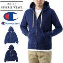 Champion チャンピオン リバースウィーブ インディゴ スウェット ジップ フード パーカー ( メンズ インディゴ染め 長袖 羽織り C3-K103 )