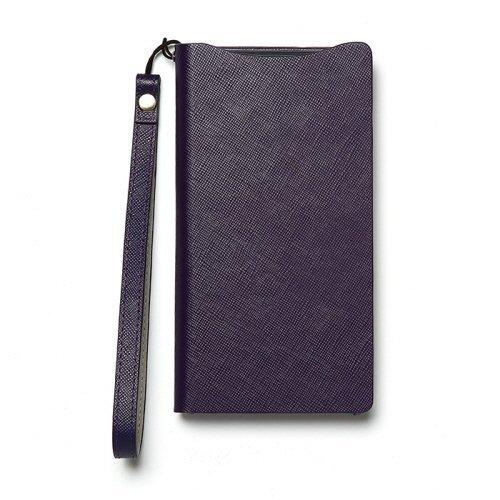 【送料無料】Xperia Z2 SO-03F 本革 レザー ケース zenus Prestige Minimal Diary 手帳型 パープル Z3538XZ2S /在庫あり/エクスぺリアz2・スマホケース【スマホ・タブレットのアクセサリー専門店 スマートフォンケース スマホケース フューチャモバイル】