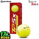 【日本正規品】2021年モデル Taylormade テーラーメイド ゴルフボール TP5x Yellow BALL TP5x イエロー ボール 1スリーブ(3球)