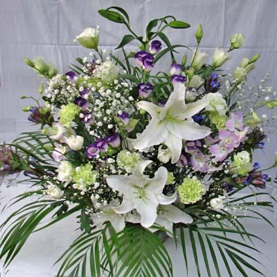 白基調の盛り花