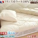 冬は暖かく 夏は涼しい 【送料無料】 日本製 洗える 羊毛 ベッドパッド ウール100 シングル 抗菌 防臭 消臭 ウォッシャブル ベッドパット ウール ベッド ベット 敷きパッド 敷きパット ベットパット ウール敷きパッド 敷パッド 国産 綿100