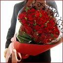 花束《60本の赤いバラ(中輪)》還暦 還暦祝い バラ ばら 花束 60本 豪華 赤バラ レッド ギフト ホワイトデー 誕生日 お礼 プレゼント メッセージカード付き 結婚記念日 生花【楽ギフ_メッセ】【RCP】 両親 花 結婚祝
