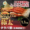 【ふるさと納税】極太タラバ足1.1kg(北海道加工)(容量:...