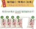 【ふるさと納税】毎月届く定期便「厚真のお米」10kg