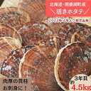 【ふるさと納税】約4.5kg!活ほたて3年貝(16枚〜25枚...