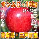 【ふるさと納税】りんご「サンふじ」28〜32玉 約10kg★