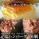 【ふるさと納税】盛岡有名店のプレーンチーズケーキ7号&塩ハン...