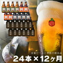 【ふるさと納税】毎月24本 1年間お届け 岩手の地ビール ベアレン醸造所 定番 季節限定 詰め合わせ 330ml 瓶 頒布会 定期便