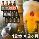 【ふるさと納税】毎月12本 3ヶ月お届け 岩手の地ビール ベ...