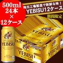 【ふるさと納税】地元名取生産 ヱビスビール 500ml 24本×12ケース