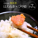 【ふるさと納税】無洗米はえぬき5kg・無洗米つや姫2kg 合...
