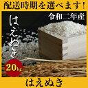 【ふるさと納税】 米 20kg はえぬき 精米 令和2年産 2020年産 山形県村山市産 送料無料 020-d93
