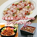 【ふるさと納税】A-129 かんたん本格調理 牛飯豚飯とロー...