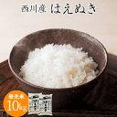 【ふるさと納税】令和元年度産 西川産 無洗米 はえぬき 10...