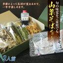 【ふるさと納税】月山山菜そばセット(2人前) FYN9-304