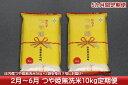 【ふるさと納税】庄内米定期便!つや姫無洗米10kg(2月下旬...