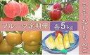 【ふるさと納税】No.0312 先行予約【全3回】フルーツ定期便 もも・なし・りんご各5kg