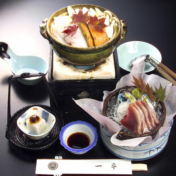 【ふるさと納税】割烹一平 お食事券ペア アンコウ鍋コース