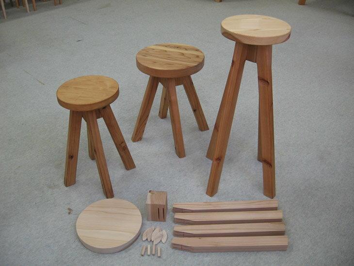 【ふるさと納税】丸スツール木工体験チケット