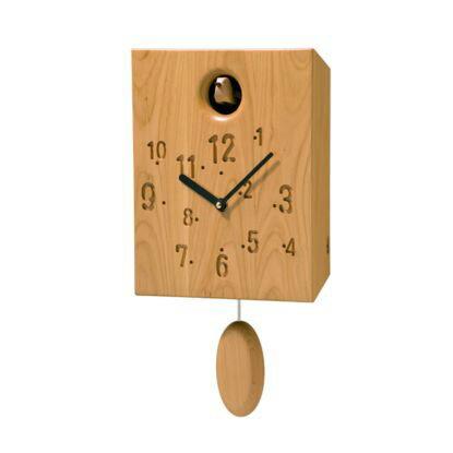 【ふるさと納税】木製からくり時計(サクラ ウレタン仕上)