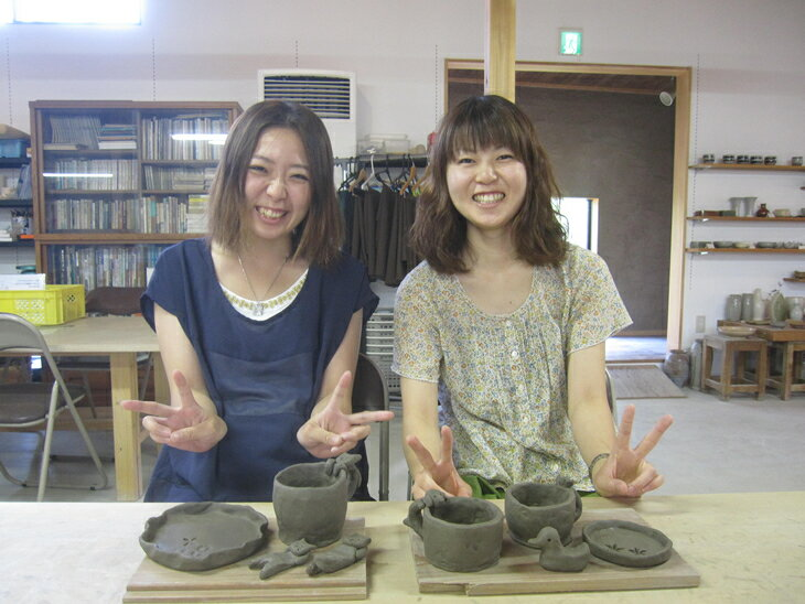 【ふるさと納税】一隅舎・陶芸体験セット 2名様(手びねり体験)