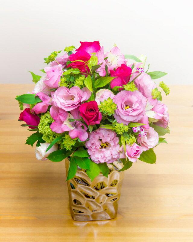 【ふるさと納税】《記念日に届くお花シリーズ》アレンジメント Sサイズ_ピンク系
