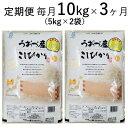 【ふるさと納税】10kg(5kg×2袋)×3ヶ月定期便 富山...