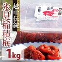 【ふるさと納税】越中伝統梅干し 氷見稲積梅(1kg) 【発酵...