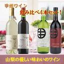 【ふるさと納税】飲み比べワイン 4本セット R206 ☆日本ワイン発祥の地、山梨より厳選☆...