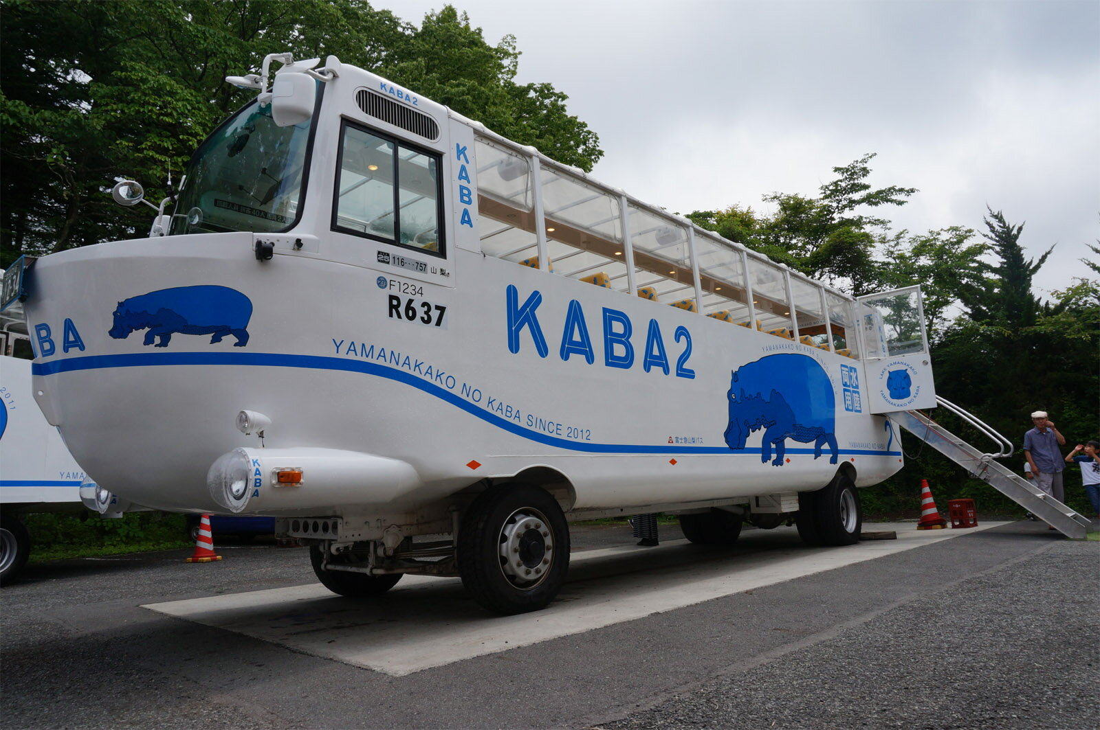 【ふるさと納税】<水陸両用KABAバス> 陸と...の紹介画像3